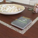 """Coffee table with inset """" Milagro"""" silver charms"""