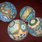 "Huichol Indian ""chaquira"" balls"