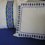 Punta Mita Privare Residence Hand painted linen pillows