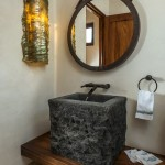 "Powder room Bencomo Sconce Handcarved ""recinto"" sink"