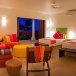 Stripes guestroom